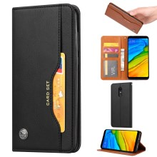 crazy horse texture leather card holder case Stand for Amazon Fire Phone - Black