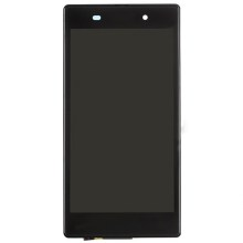 Black OEM LCD Screen and Digitizer Assembly with Front Housing for Sony Xperia Z1 L39h C6903 Honami