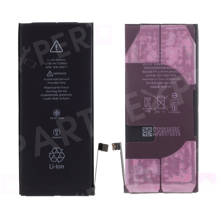 For Apple iPhone XR 6.1 inch 2942mAh 3.82V Li-ion Battery and Assembly Flex Cable, iPhone XR 6.1 inch