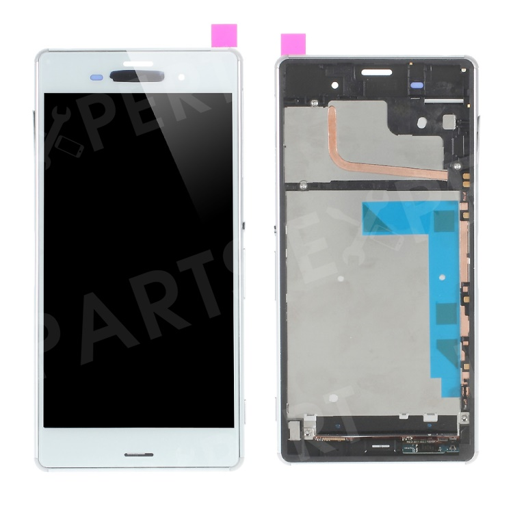 LCD Screen and Digitizer Assembly for Sony Xperia Z3 D6603 with Front Housing - White, Xperia Z3 D6603 D6643 D6653 D6616
