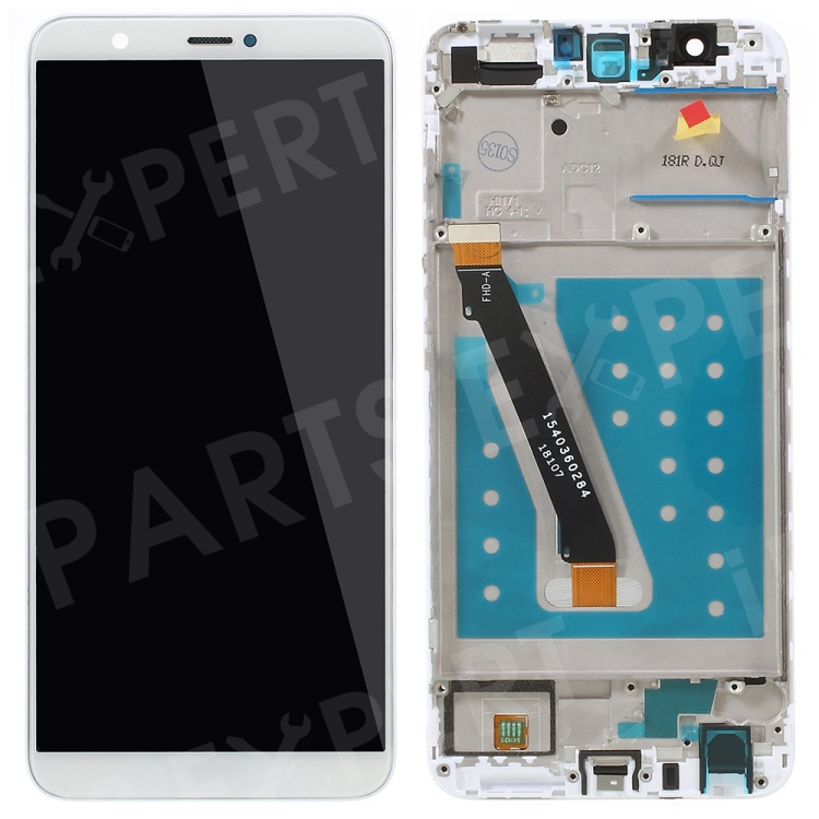 Купить со скидкой LCD Screen and Digitizer Assembly + Frame Replacement Part for Huawei P Smart / Enjoy 7S - White