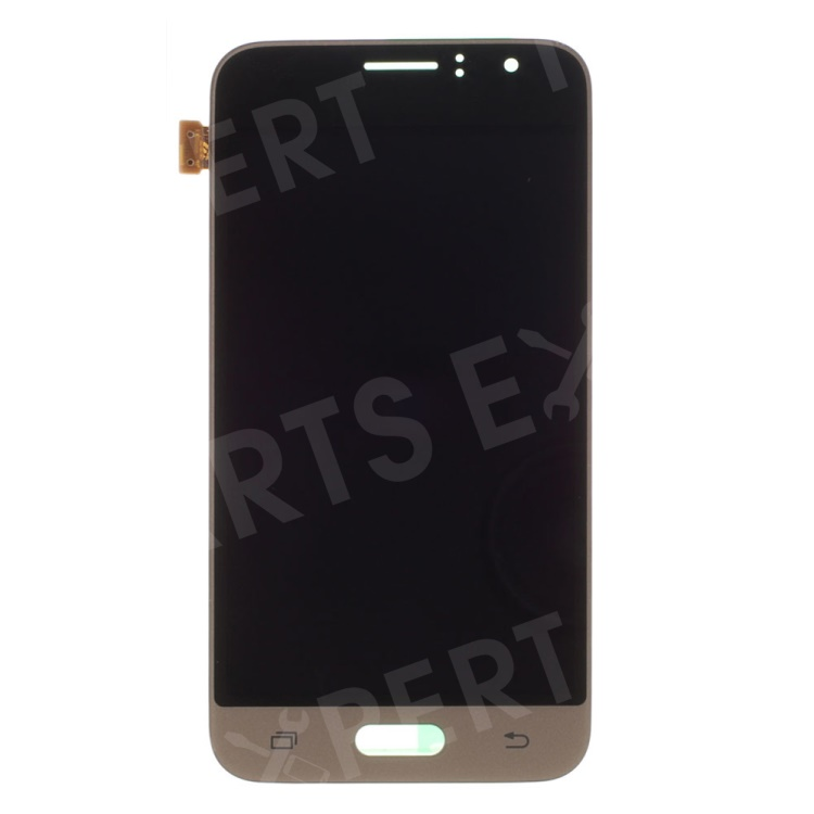 OEM LCD Screen and Digitizer Assembly Replacement for Samsung Galaxy J1 (2016£©J120 - Gold Color, Galaxy J1 (2016)