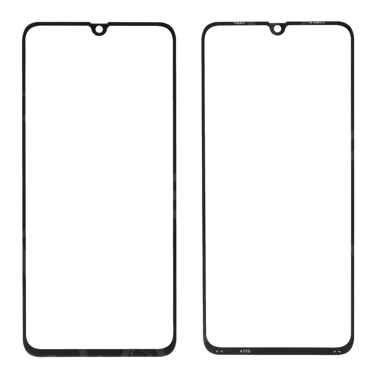 For Samsung Galaxy A70s Front Screen Glass Lens Cover Replace Part - Black, Galaxy A70s