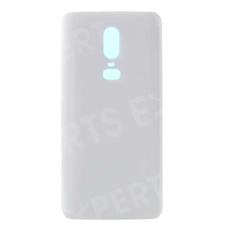 Купить со скидкой Battery Housing Door Cover Spare Part with Adhesive Sticker for OnePlus 6 - White