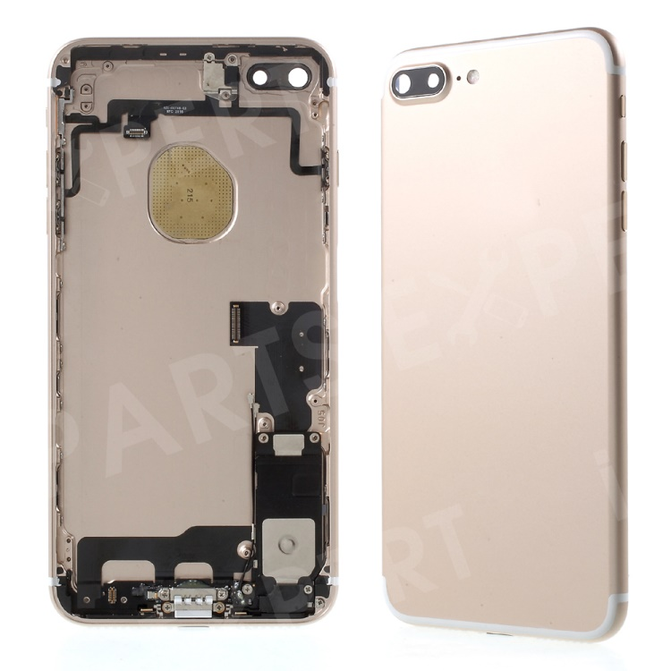 separation shoes 059db e13f6 For iPhone 7 Plus Metal Back Housing Faceplate Assembly with Small Parts -  Gold Color