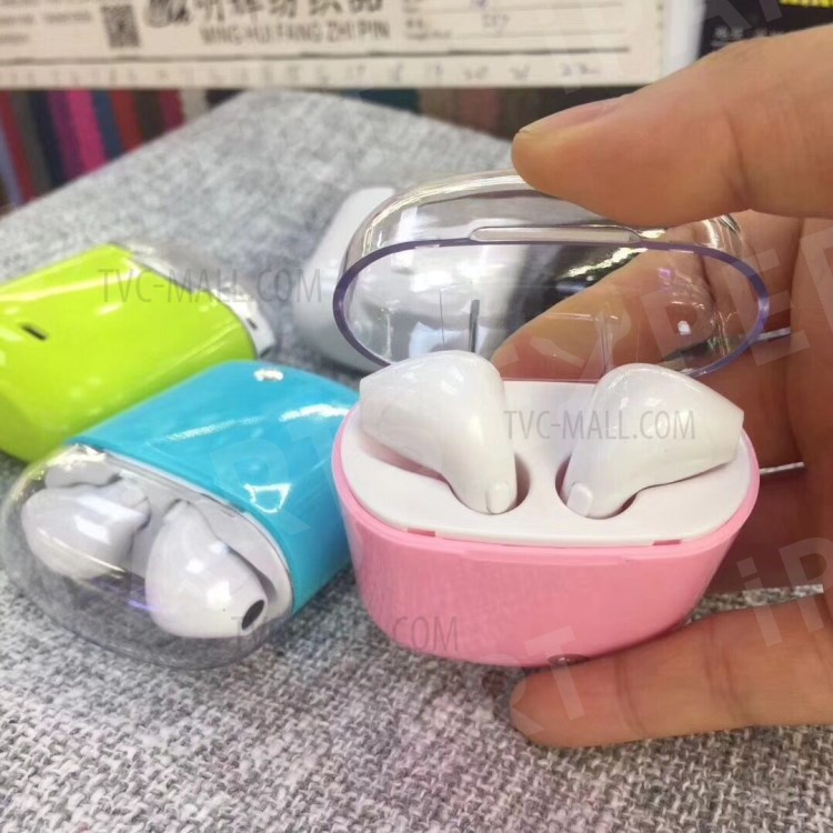 i7S TWS In-ear Wireless Bluetooth 4 2 + EDR Stereo Double Headsets with  Charging Box - Pink