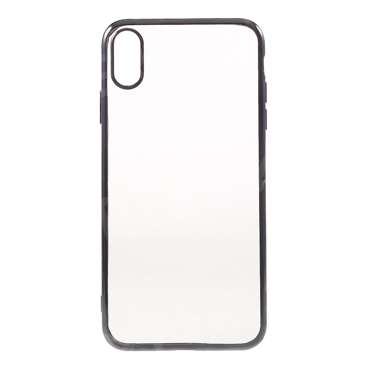 timeless design 0e08d 26664 Electroplating Edge Clear TPU Lightweight Casing for iPhone XS Max 6.5 inch  - Grey