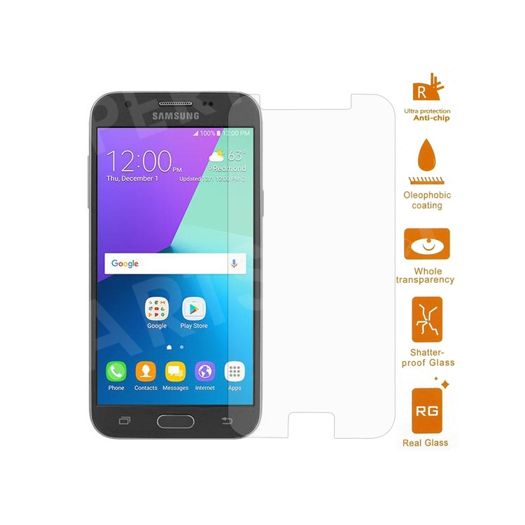 For Samsung Galaxy J3 (2017) Tempered Glass Screen Protector Guard Film  0 3mm (Arc Edge)