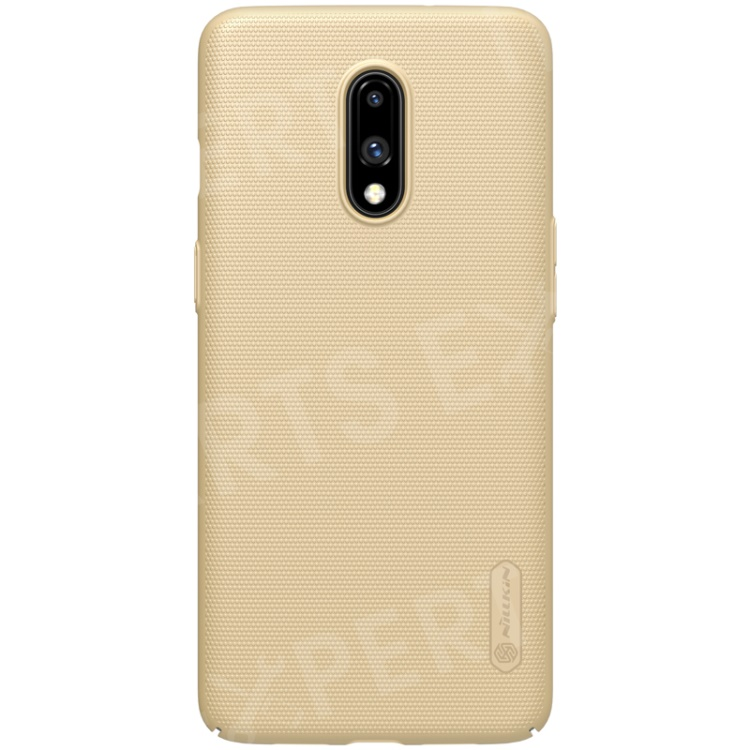 Купить со скидкой NILLKIN Super Frosted Shield Matte PC Mobile Cover for OnePlus 7 - Gold