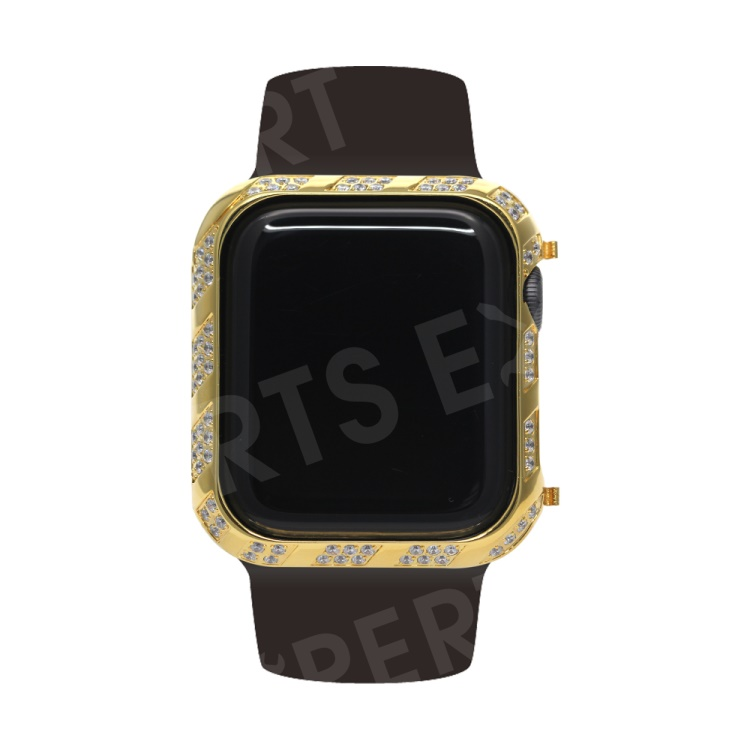 Shiny Rhinestone Decorated Metal Protective Case for Apple Watch Series 4 40mm - Gold, Apple Watch Series 4 40mm