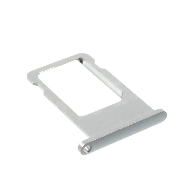 OEM SIM Card Tray Holder Replacement for iPhone 6 - Silver Color