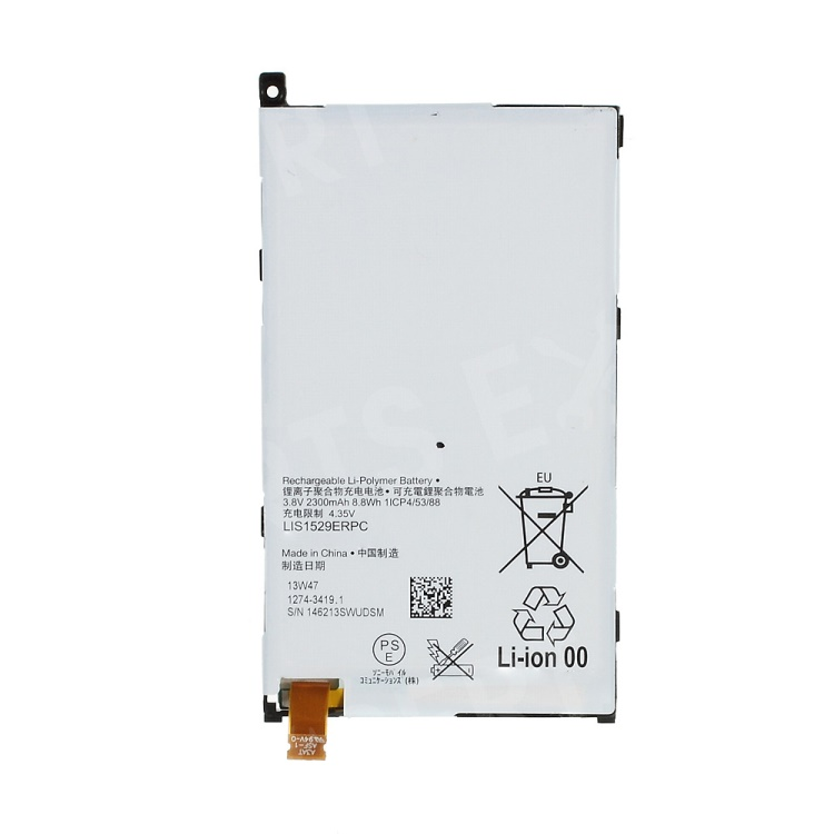 2300mAh LIS1529ERPC Rechargeable Li-Polymer Battery Replacement for Sony Xperia Z1 Compact D5503 (OEM, Not Brand New)