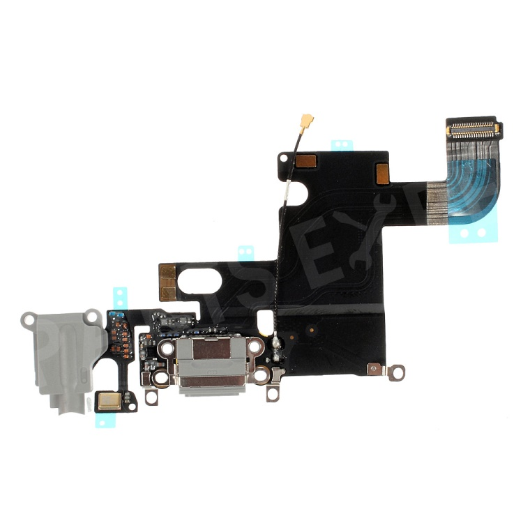 OEM Dock Connector Charging Port Flex Cable for iPhone 6 4.7 - Dark Grey