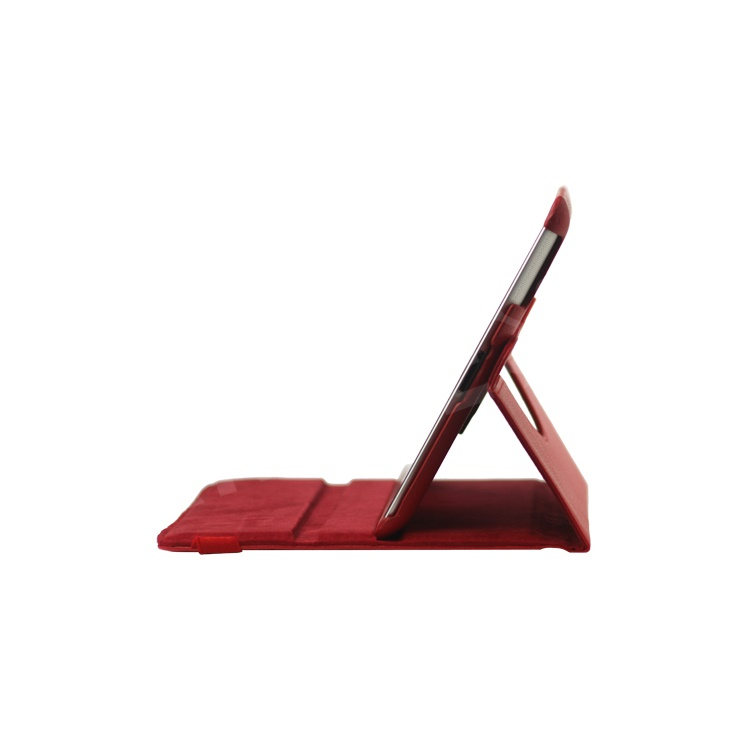 360 Degree Rotating New iPad 2 3 4 Leather Case Cover with Stand - Red