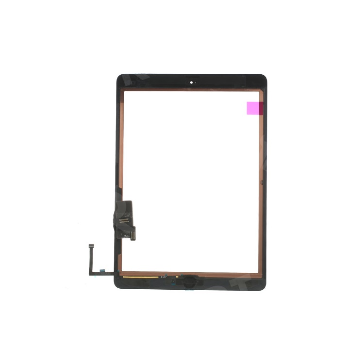Black for iPad Air OEM Touch Screen + Camera Holder + Home Button + Home Button Flex Cable + Touch Screen Digitizer Adhesive