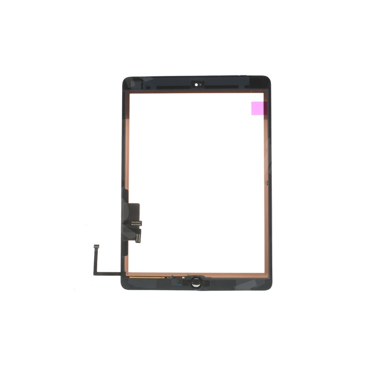White for iPad Air OEM Touch Screen + Camera Holder + Home Button + Home Button Flex Cable + Touch Screen Digitizer Adhesive