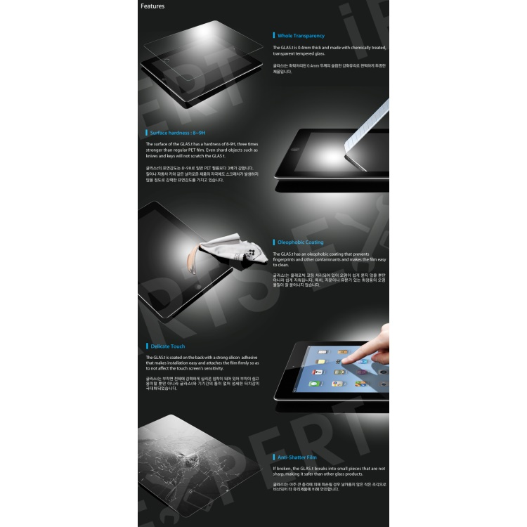 New Explosion-proof Tempered Glass Film LCD Screen Protector for iPad Mini / iPad Mini with Retina display