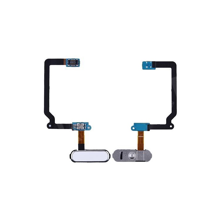 OEM Home Button with Flex Cable Replacement for Samsung Galaxy S5 SM-G900 - White, Galaxy S5 G900