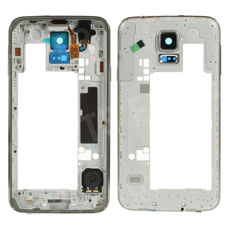 OEM Middle Plate with Side Keys Replace Part for Samsung Galaxy S5 G900 - Gold