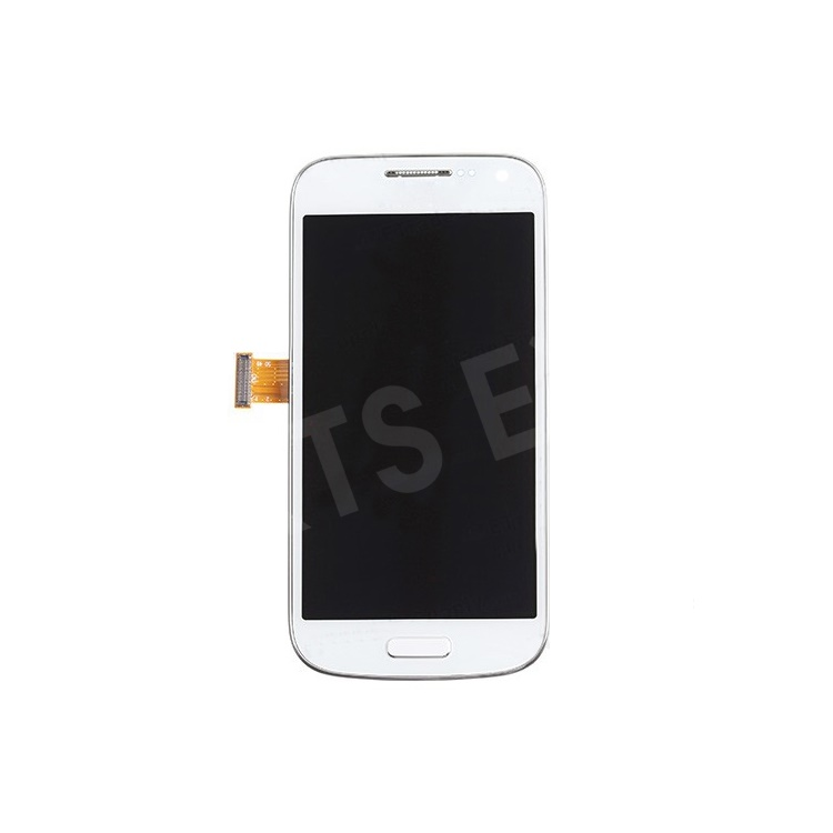 White OEM LCD Screen and Digitizer Assembly with Front Housing for Samsung Galaxy S4 mini GT-I9195 LTE, Galaxy S4 mini